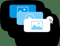 Adding or Deleting media icon