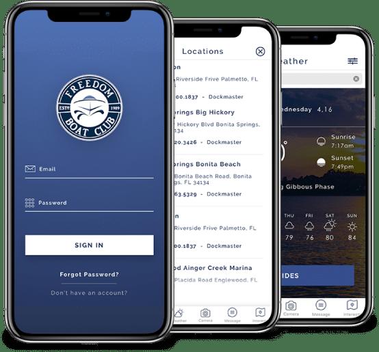 Freedom Boat Club app image