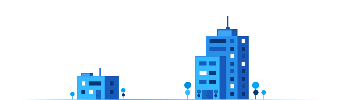 Cartoon blue buildings image
