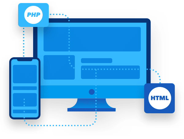 PHP and HTML working between devices image