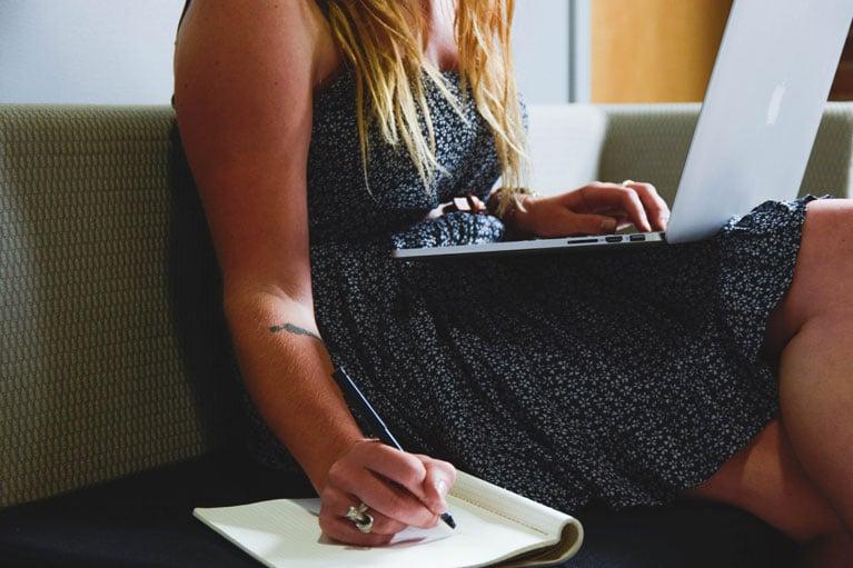 Woman on laptop image