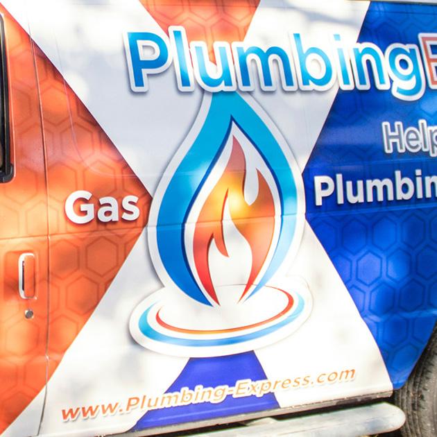 Side of plumbing express van image