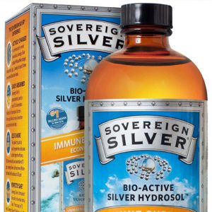 Photo of a bottle of Sovereign Silver