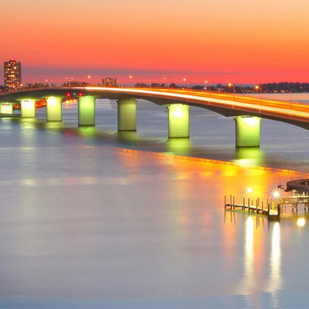 photo of bridge over ocean