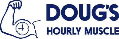 Logo for Doug's Hourly Muscle
